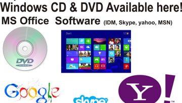 Windows CD & DVD Available
